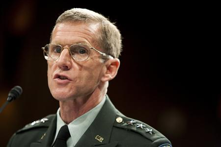 Army Lt. Gen. Stanley McChrystal testifies before the Senate Armed Services Committee in Washington in this June 2, 2009 file photograph. REUTERS/Joshua Roberts /files