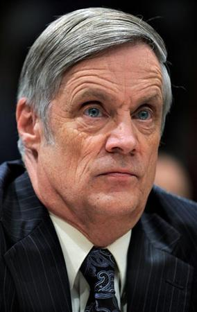 The Pentagon's Defense Comptroller Robert Hale listens to testimony during the House Defense Appropriations Subcommittee on the fiscal year 2010 defense budget, on Capitol Hill in Washington, May 20, 2009. REUTERS/Mike Theiler