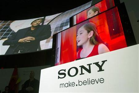 New Sony Bravia 4K Ultra HD televisions are displayed after being unveiled during a Sony news conference at the Consumer Electronics Show (CES) in Las Vegas January 7, 2013. REUTERS/Steve Marcus