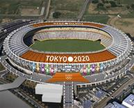 The Tokyo Stadium, one of the proposed Olympic stadiums for the 2020 Summer Olympic games, is seen in this computer-generated file handout image provided by the Tokyo 2020 Bid Committee, and released January 8, 2013. REUTERS/Tokyo 2020 Bid Commitee/Handout