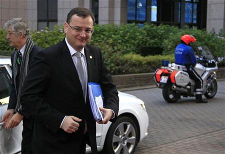 Czech Republic's Prime Minister Petr Necas arrives at the EU council headquarters for an European Union leaders summit discussing the European Union's long-term budget in Brussels November 22, 2012. REUTERS/Yves Herman
