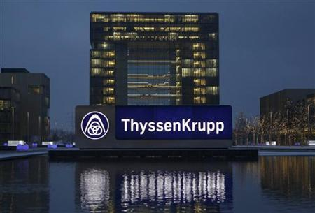 The headquarters of Germany's industrial conglomerate ThyssenKrupp AG is pictured before its annual news conference in Essen December 11, 2012. REUTERS/Ina Fassbender