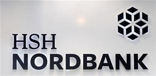 The HSH Nordbank logo is pictured in Hamburg December 7, 2012. REUTERS/Fabian Bimmer