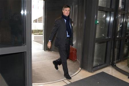 French Junior Minister for Budget Jerome Cahuzac arrives at the Finance Ministry in Paris January 7, 2013. REUTERS/Charles Platiau