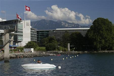 The headquarters of food giant Nestle is pictured in Vevey August 8, 2012. REUTERS/Denis Balibouse