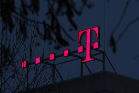 The logo of Deutsche Telekom AG is seen at their headquarters in Bonn December 5, 2012. REUTERS/Ina Fassbender