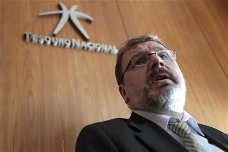 Brazil's Treasury Secretary Arno Augustin speaks during an interview with Reuters in Brasilia September 30, 2011. REUTERS/Ueslei Marcelino