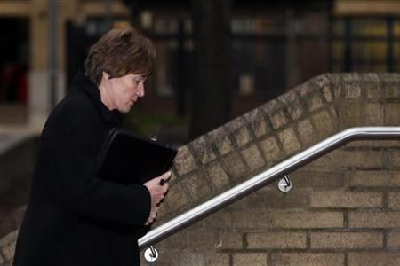 Detective Chief Inspector April Casburn arrives at Southwark Crown Court in London January 8, 2013. REUTERS/Stefan Wermuth