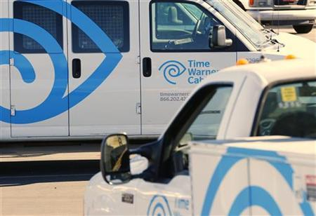 Time Warner Cable trucks sit parked at their office in Carlsbad, California November 5, 2012. REUTERS/Mike Blake