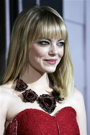 Actress Emma Stone arrives at Warner Bros. Pictures' ''Gangster Squad'' premiere at Grauman's Chinese Theatre in Hollywood, California, January 7, 2013. REUTERS/Jonathan Alcorn