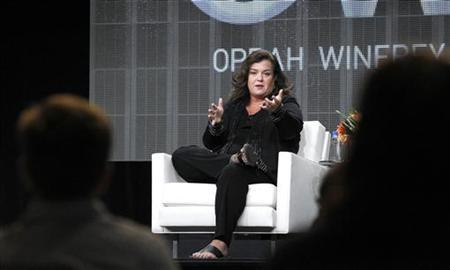 Host Rosie O'Donnell answers a question during the OWN session for ''The Rosie Show'' at the 2011 Summer Television Critics Association Cable Press Tour in Beverly Hills, California July 29, 2011. REUTERS/Mario Anzuoni