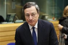 Il presidente della Bce Mario Draghi a Bruxelles 12 dicembre 2012. REUTERS/Francois Lenoir