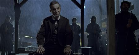 Actors Daniel Day-Lewis shown in a scene from the film ''Lincoln'' in this publicity photo released to Reuters January 10, 2013. The film has been nominated for best picture for the 85th Academy Awards Thursday. The Oscars will be presented in Hollywood, California February 24, 2013. REUTERS/Walt Disney Pictures/20th Century Fox/Handout