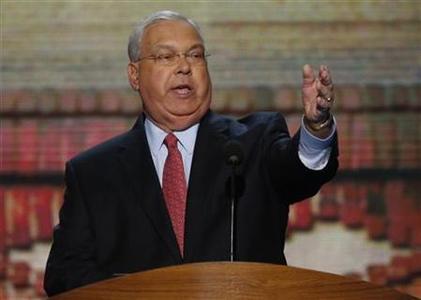 Boston Mayor Thomas Menino addresses delegates during the second session of the Democratic National Convention in Charlotte, North Carolina, September 5, 2012. REUTERS/Jason Reed
