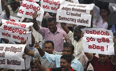Sri Lanka lawyers in boycott over attempt to fire top...