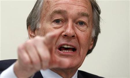 House Energy and Power Subcommittee member Ed Markey (D-MA) speaks during the committee's second hearing on the Keystone XL Pipeline on Capitol Hill in Washington February 3, 2012. REUTERS/Kevin Lamarque