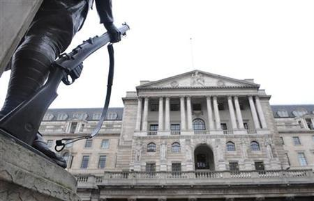 The Bank of England building is seen in central London March 20, 2008. REUTERS/Toby Melville