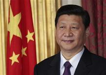 China's then Vice-President Xi Jinping stands during a trade agreement ceremony between the two countries at Dublin Castle in Dublin, Ireland in this February 19, 2012 file photo. REUTERS/David Moir/Files