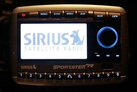 A Sirius Satellite Radio unit is shown installed in a private vehicle in Washington February 20, 2007. REUTERS/Jason Reed
