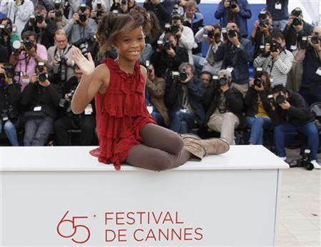 Actress Quvenzhane Wallis attends a photo call for the film ''Beasts of the southern wild'', by director Benh Zeitlin, at the 65th Cannes Film Festival, May 19, 2012. REUTERS/Yves Herman/Files