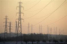 EDF est l'une des valeurs à suivre à la Bourse de Paris, après que le Wall Street Journal a suggéré que le groupe français était en discussions avec China Guangdong Nuclear Power Company (CGNPC) pour former un partenariat en vue de la construction de centrales nucléaires au Royaume-Uni. /Photo prise le 3 février 2012/REUTERS/Vincent Kessler