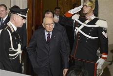 Il presidente della Repubblica Giorgio Napolitano al Quirinale, Roma 22 dicembre 2012. REUTERS/ Press Officer Presidenza della Repubblica