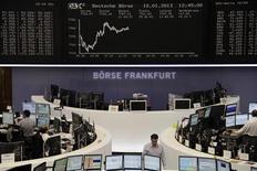 Un'immagine della Borsa di Francoforte. REUTERS/Remote/Janine Eggert