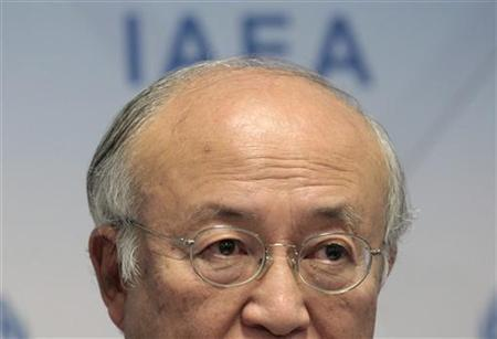International Atomic Energy Agency (IAEA) Director General Yukiya Amano reacts as he attends a news conference during a board of governors meeting at the UN headquarters in Vienna November 29, 2012. REUTERS/Herwig Prammer/Files