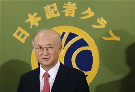 International Atomic Energy Agency (IAEA) Director General Yukiya Amano attends a news conference at Japan National Press Club in Tokyo January 11, 2013. REUTERS/Toru Hanai