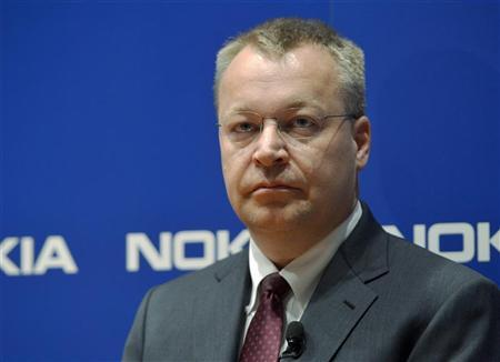 Nokia CEO Stephen Elop looks on during the company's news conference in Espoo, June 14, 2012. REUTERS/Kimmo Mantyla/Lehtikuva