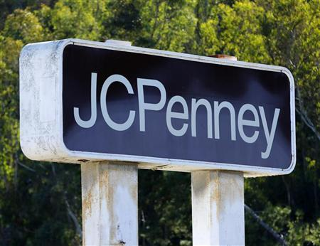 A J.C. Penney department store sign is shown in Oceanside, California, November 5, 2012. REUTERS/Mike Blake/Files