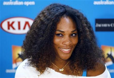 Serena Williams of the U.S. speaks during a news conference at the Australian Open tennis tournament in Melbourne, January 12, 2013. REUTERS/Navesh Chitrakar