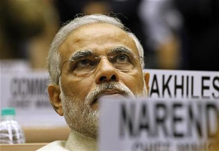 Narendra Modi, Chief Minister of Gujarat, attends the meeting of the 57th National Development Council (NDC) in New Delhi December 27, 2012. REUTERS/B Mathur/Files