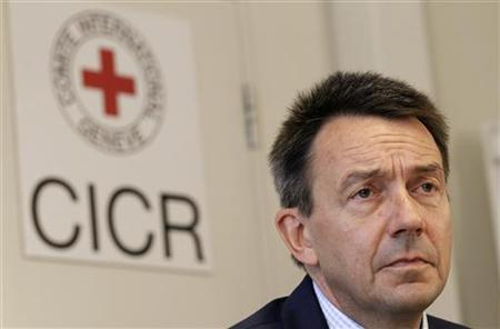 Peter Maurer, President of the International Committee of the Red Cross (ICRC), looks on during a news conference in Geneva September 7, 2012. REUTERS/Denis Balibouse