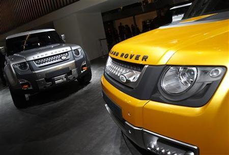 A concept version of Land Rover's Defender is seen at the Jaguar-Land Rover exhibition booth during the International Motor Show (IAA) in Frankfurt, September 14, 2011. REUTERS/Alex Domanski/Files