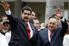Venezuelan Vice President Nicolas Maduro (L) arrives with National Assembly President Diosdado Cabello during the assembly inauguration in Caracas January 5, 2013. REUTERS/Carlos Garcia Rawlins