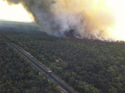 Australian wildfires spare observatory, uncover bush...