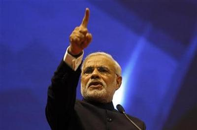 India's Modi basks in rock star reception at his Gujarat show