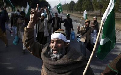 Thousands gather for Pakistan cleric's protest march...