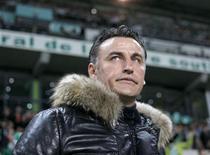 Les hommes de l'entraîneur Christophe Galtier auront à coeur de s'imposer mardi à domicile face à Lille en Coupe de la Ligue, afin de permettre aux Verts de disputer leur première finale depuis 1982. /Photo d'archives/REUTERS/Robert Pratta