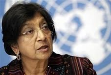 U.N. High Commissioner for Human Rights Navi Pillay addresses a news conference at the United Nations European headquarters in Geneva October 18, 2012. REUTERS/Denis Balibouse