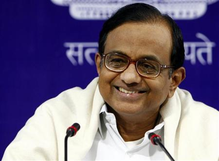 P. Chidambaram smiles during the annual economic editor's conference in New Delhi November 24, 2008. REUTERS/B Mathur/Files
