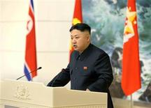 REUTERS/KCNA (NORTH KOREA - Tags: POLITICS) THIS IMAGE HAS BEEN SUPPLIED BY A THIRD PARTY. IT IS DISTRIBUTED, EXACTLY AS RECEIVED BY REUTERS, AS A SERVICE TO CLIENTS. NO THIRD PARTY SALES. NOT FOR USE BY REUTERS THIRD PARTY DISTRIBUTORS
