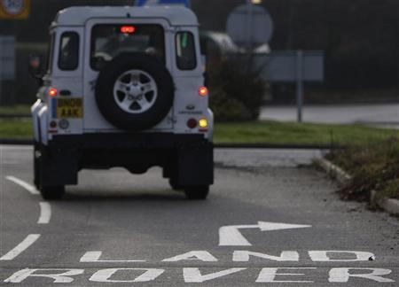 A Land Rover is driven into the Jaguar Land Rover plant in Solihull, central England, January 14, 2009. REUTERS/Darren Staples