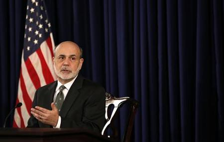 U.S. Federal Reserve Chairman Ben Bernanke speaks during a news conference in Washington December 12, 2012. REUTERS/Kevin Lamarque/Files