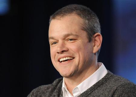 Actor Matt Damon takes part in a panel discussion of HBO's ''Behind The Candelabra'' during the 2013 Winter Press Tour for the Television Critics Association in Pasadena, California, January 4, 2013. REUTERS/Gus Ruelas