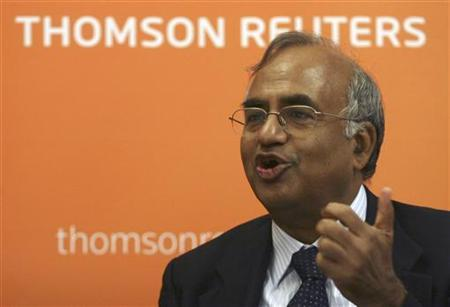 Tata Consultancy Services Chief Financial Officer S. Mahalingam speaks during the Reuters India Investment Summit in Mumbai November 23, 2009. REUTERS/Stringer/Files