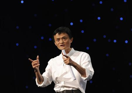 Chairman and Chief Executive of Alibaba Group Jack Ma delivers a speech at the 8th Netrepreneur Summit in Hangzhou, Zhejiang province September 10, 2011. REUTERS/Lang Lang