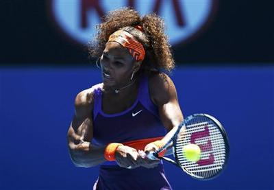 Tumbling Serena leads Melbourne march of top seeds