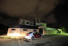 Il consolato italiano a Begasi. REUTERS/Esam Al-Fetori